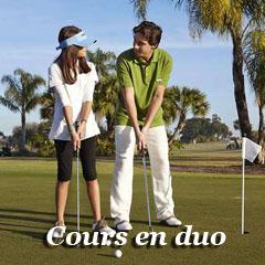 apprendre le golf en duo avec coach diplomé