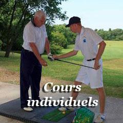 cours particuliers de golf avec un moniteur diplomé